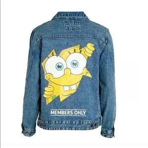Members Only Nickelodeon Sponge Bob Denim Jacket